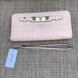 NWT Guess Faux Reptile Leather Wallet/Wristlet